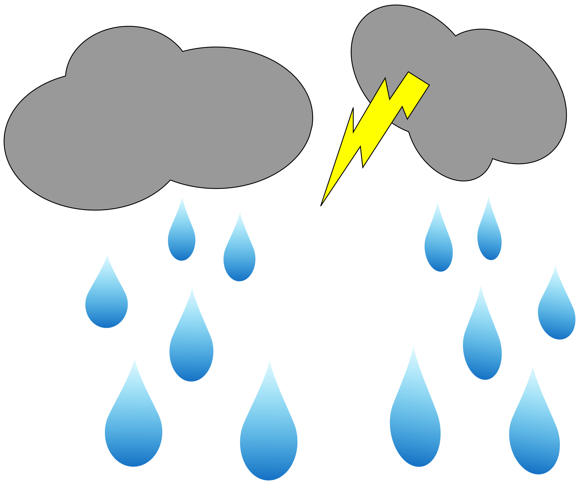 2400x2009 Rain With Lightning Clipart