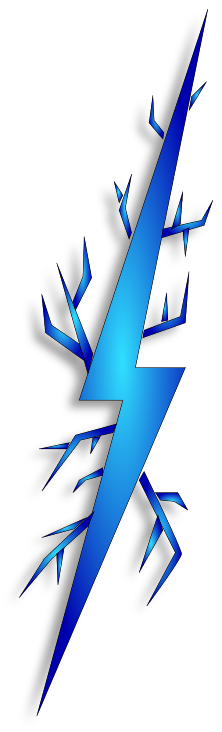 728x2400 Blue Lightning Clipart, Explore Pictures