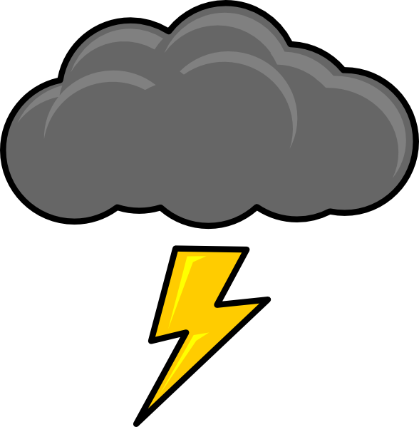 588x599 Clip Art Of Rain And Lightning Clipart