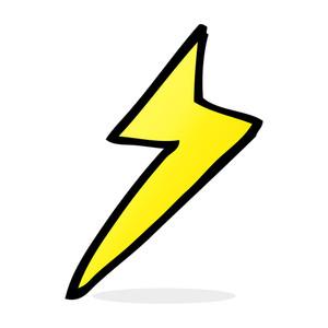 300x300 Lightning Bolt Stroke Icon Royalty Free Stock Image
