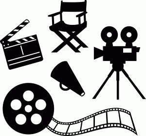 300x279 Movie Clipart Lights Camera