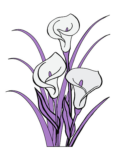 413x550 Lily Clipart Line Drawing