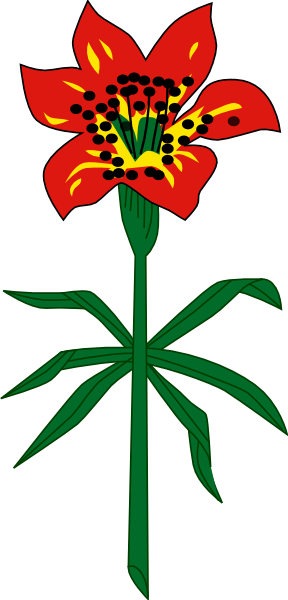 288x600 Western Red Lily Saskatchewan Clip Art