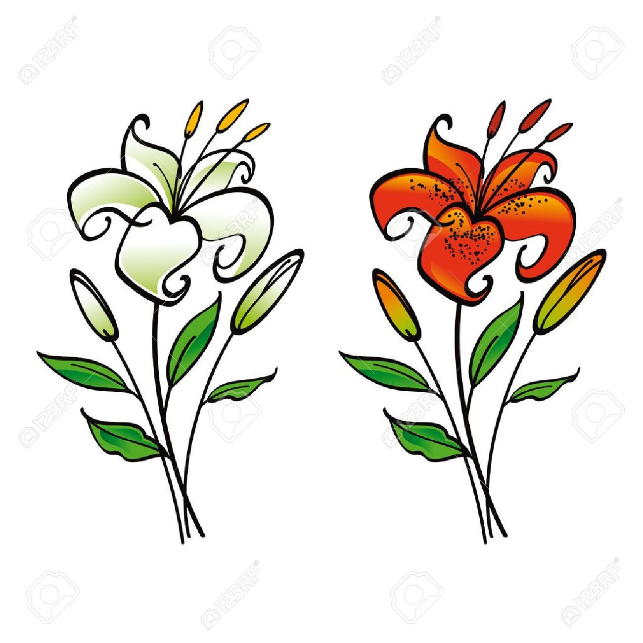 Lily flower clipart free download best lily flower clipart on 1300x1300 oriental clipart lily flower izmirmasajfo