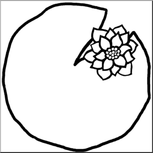 Lily Pad Clipart Black And White | Free download best Lily ...
