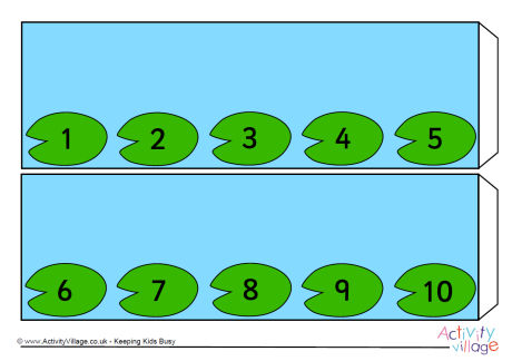 460x324 Lily Pad Number Line Skip Counting By 4