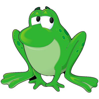 400x400 Lily Pad Frog Clipart