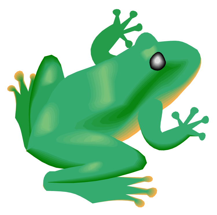 750x744 Frog On Lily Pad Clipart
