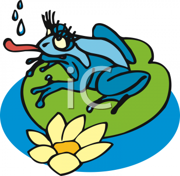 350x343 Girl Frog Clipart