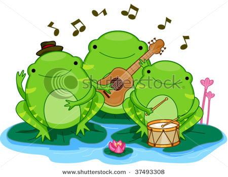 450x350 Hopping Frog Lily Pad Clipart Cliparthut