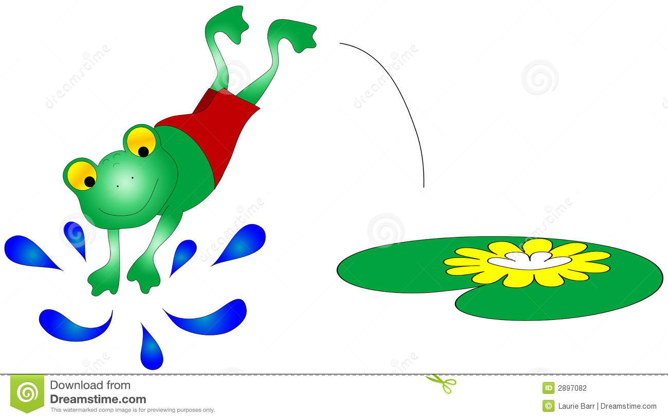 1300x819 Swimming Frog Clipart