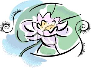 300x227 Art Image A Lotus And Lily Pad