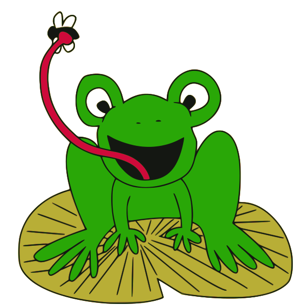 600x600 Best Cute Frog On Lily Pad Clipart