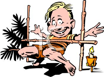 350x259 Royalty Free Clip Art Image Guy On Vacation Doing The Limbo