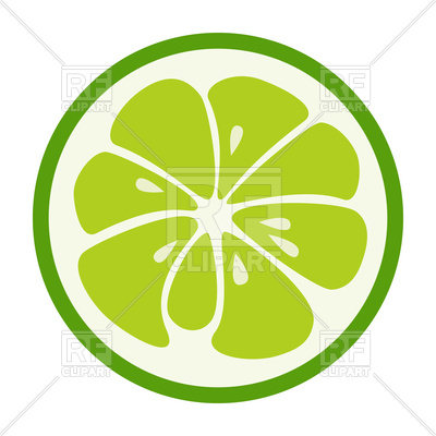 400x400 Green Lime Icon Royalty Free Vector Clip Art Image