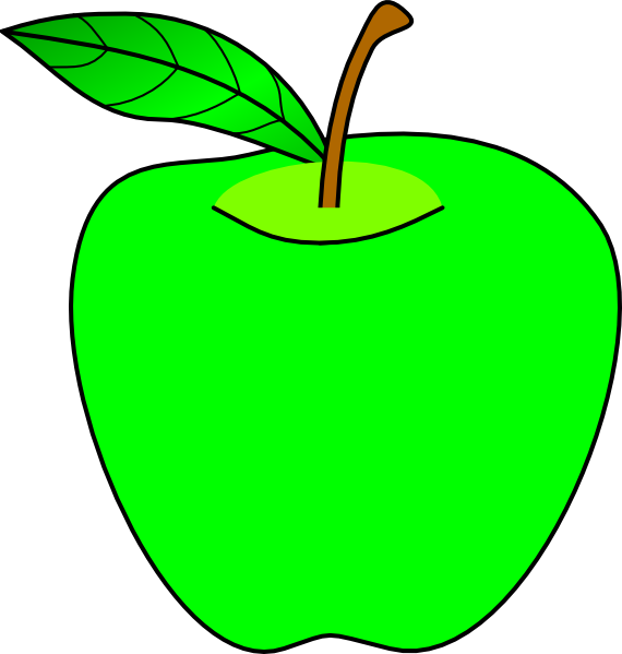 570x599 Apple Clipart Lime Green