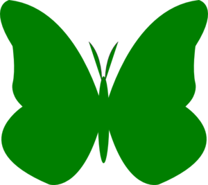 300x267 Butterfly Clipart Lime Green