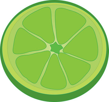 350x325 Lime Clipart Lime Slice