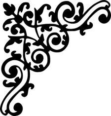 225x235 Scroll Clipart Decorative Accent