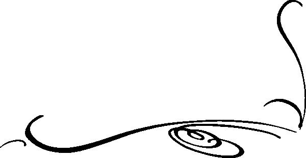 600x310 Swirl Clipart Decorative Accent
