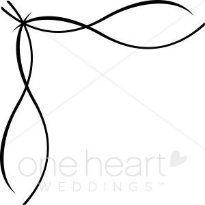 300x299 Clipart Ribbon Border Wedding Flourish