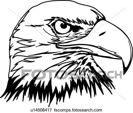 450x384 Clip Art Of Eagle Head U14508417