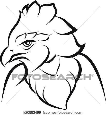 436x470 Clip Art Of Line Art Of Crown Eagle K20993499