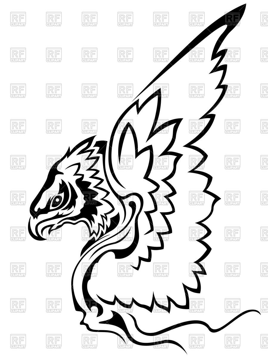 900x1200 Eagle With Raised Wings