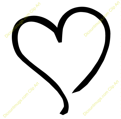 500x494 Heart Outline Clipart Many Interesting Cliparts