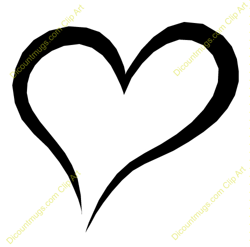500x494 Hearts Clipart Heart Outline