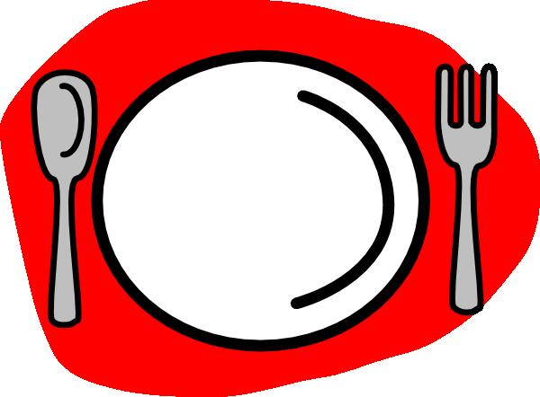 600x442 Spoon Plate Fork Clip Art