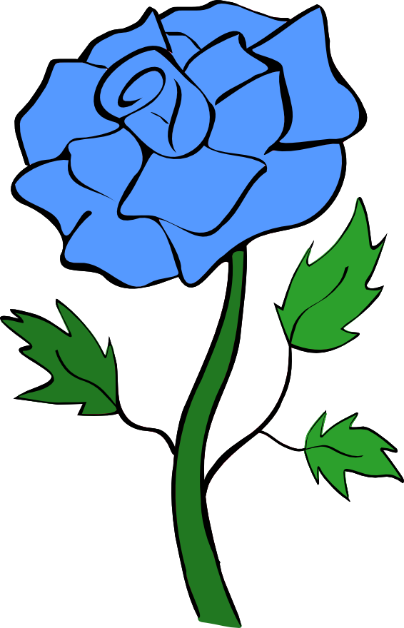 566x880 Blue Flower Clipart