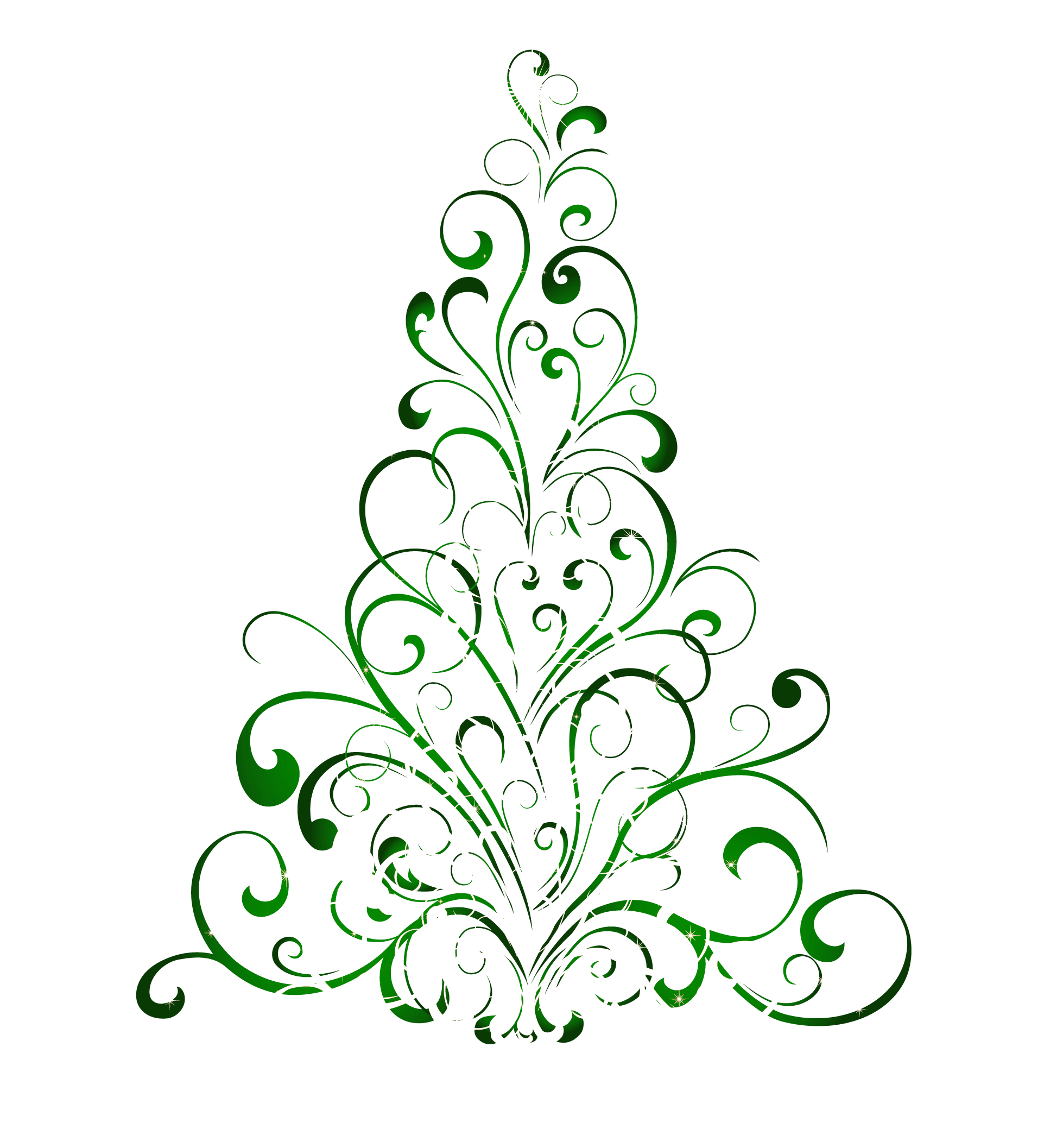 1958x2114 Christmas Tree Clipart Line Art