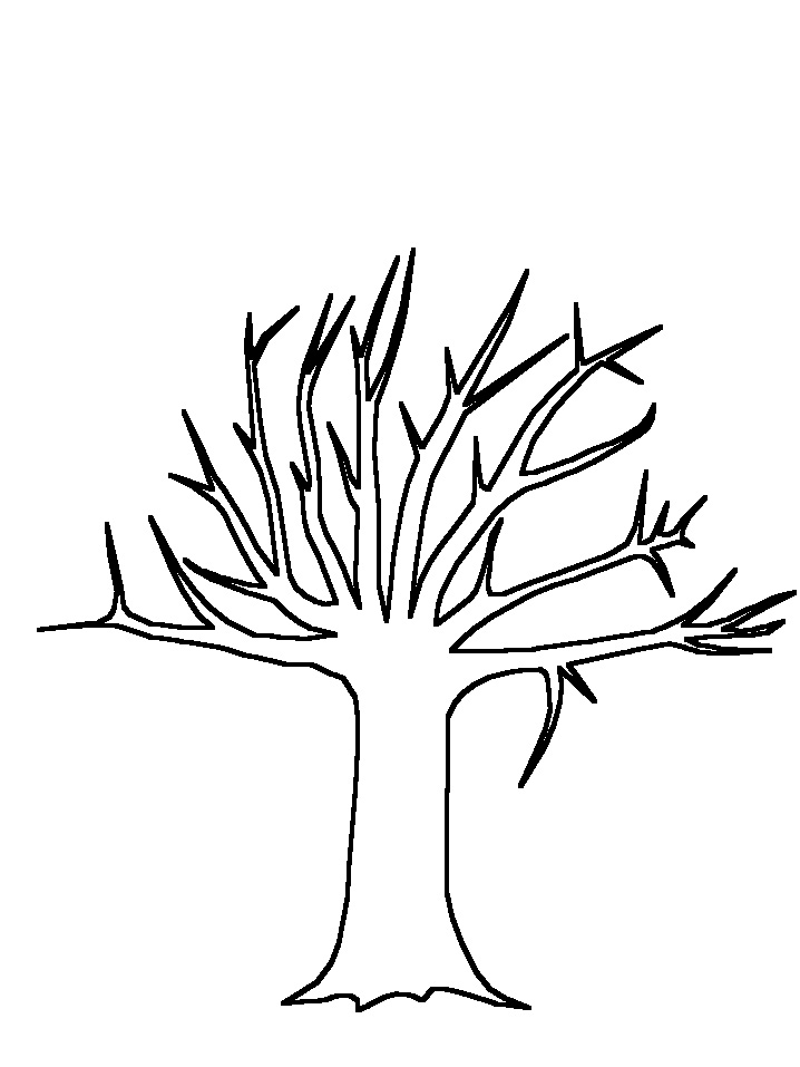 718x957 Line Art Tree