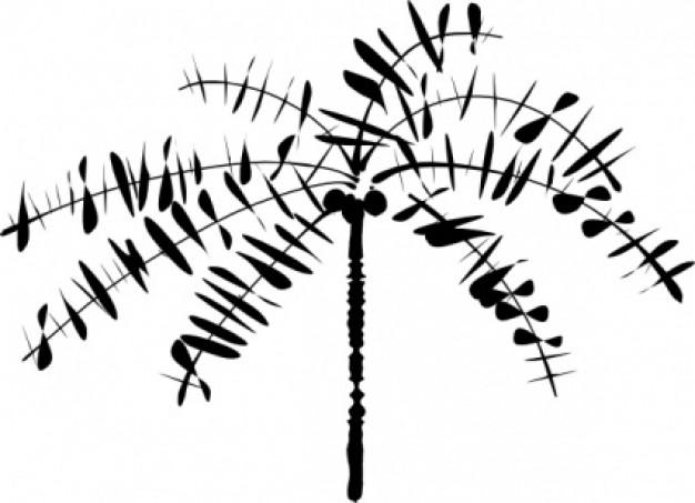 626x453 Line Art Trees