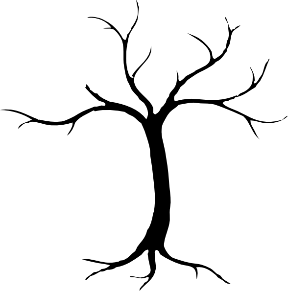 588x595 Sketchy Silhouette Tree Clip Art