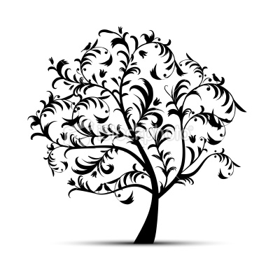 380x379 Tree Clipart Line Art