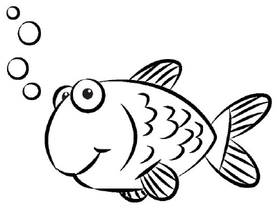 400x302 How To Draw A Goldfish In 4 Steps Goldfish, Drawing Ideas