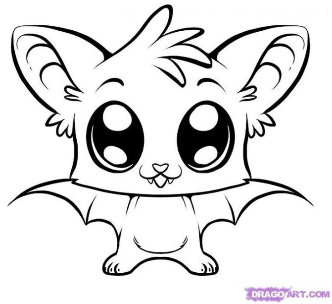 671x613 Coloring Pages Cute Drawings Animals Line Drawings Cute Animals