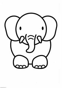 212x300 Coloring Pages Simple Animal Drawing Line Drawings Of Animals