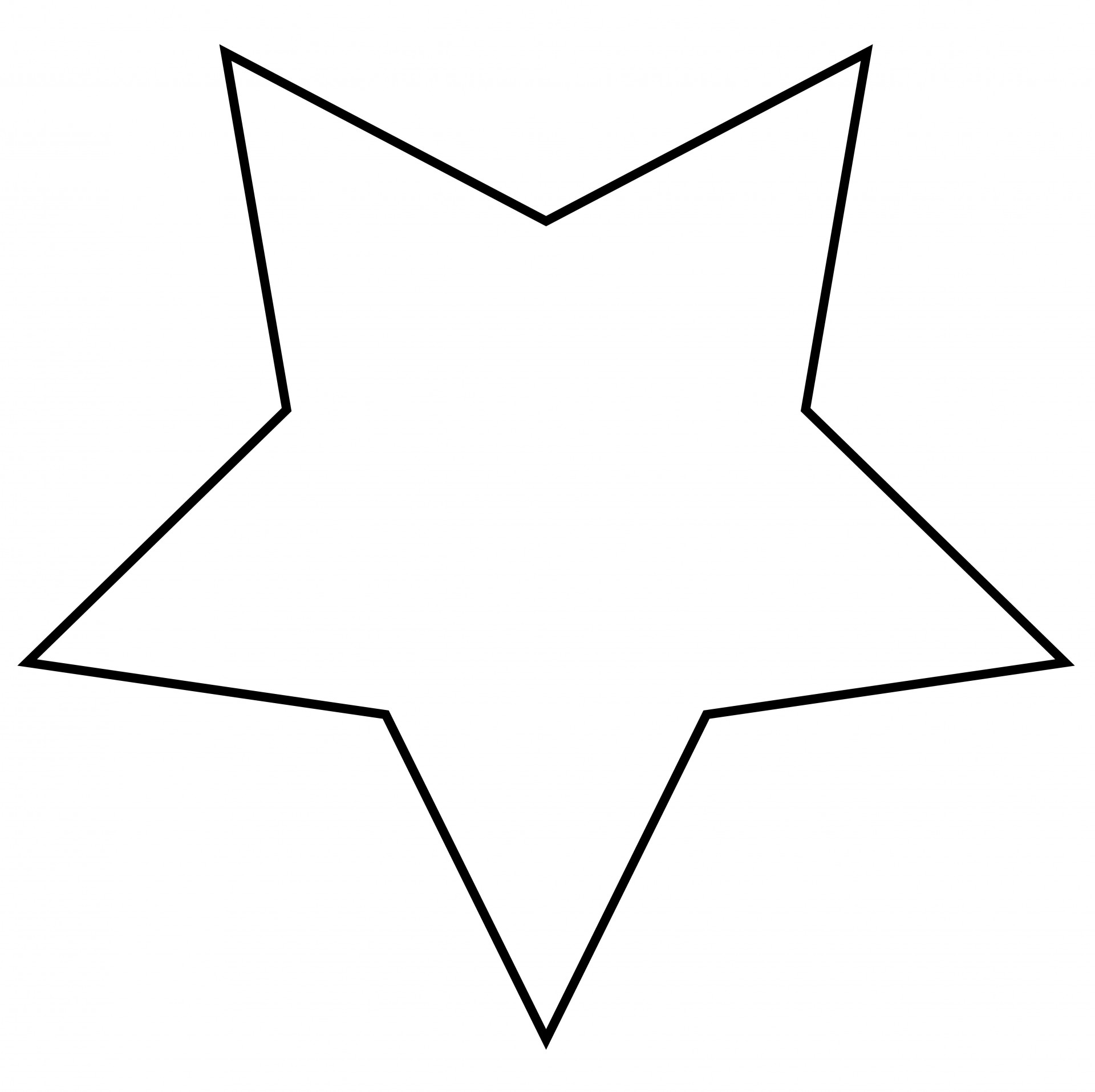 1920x1915 Star Outline Clipart Free Stock Photo