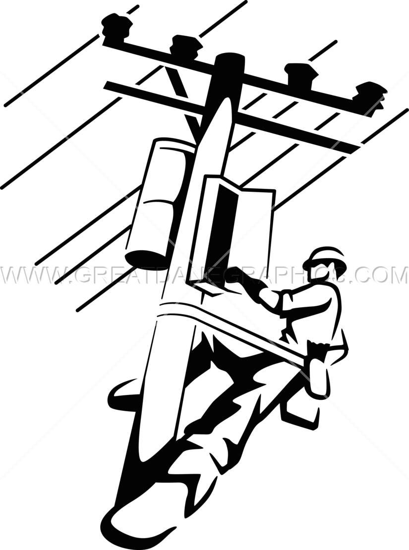 825x1110 Electrical Lineman Production Ready Artwork For T Shirt Printing