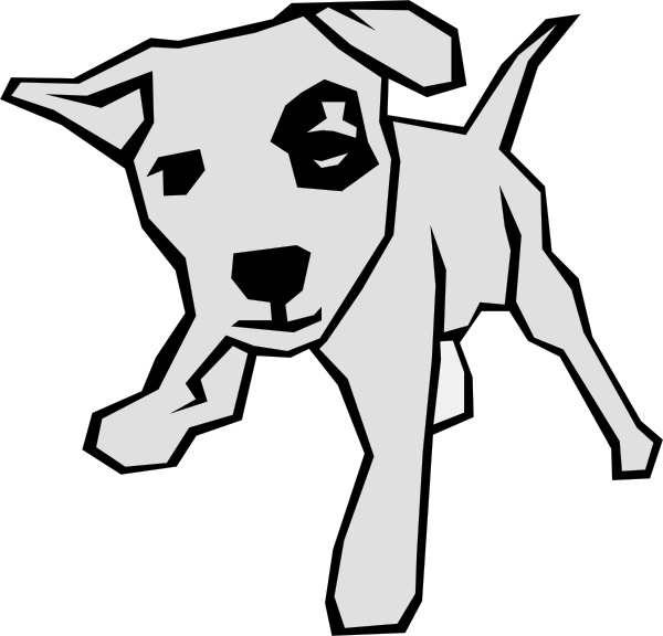 600x576 Dog 03 Drawn With Straight Lines Clip Art Free Vector In Open