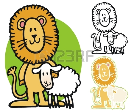 450x377 268 Lion Lamb Stock Vector Illustration And Royalty Free Lion Lamb