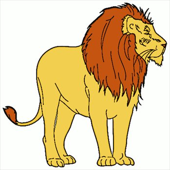 349x350 Lion and lamb clipart ClipartMonk