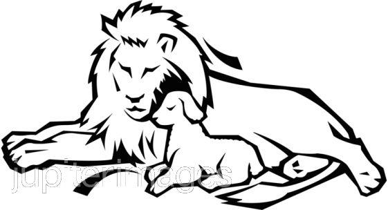 561x304 White Lion clipart lion lamb