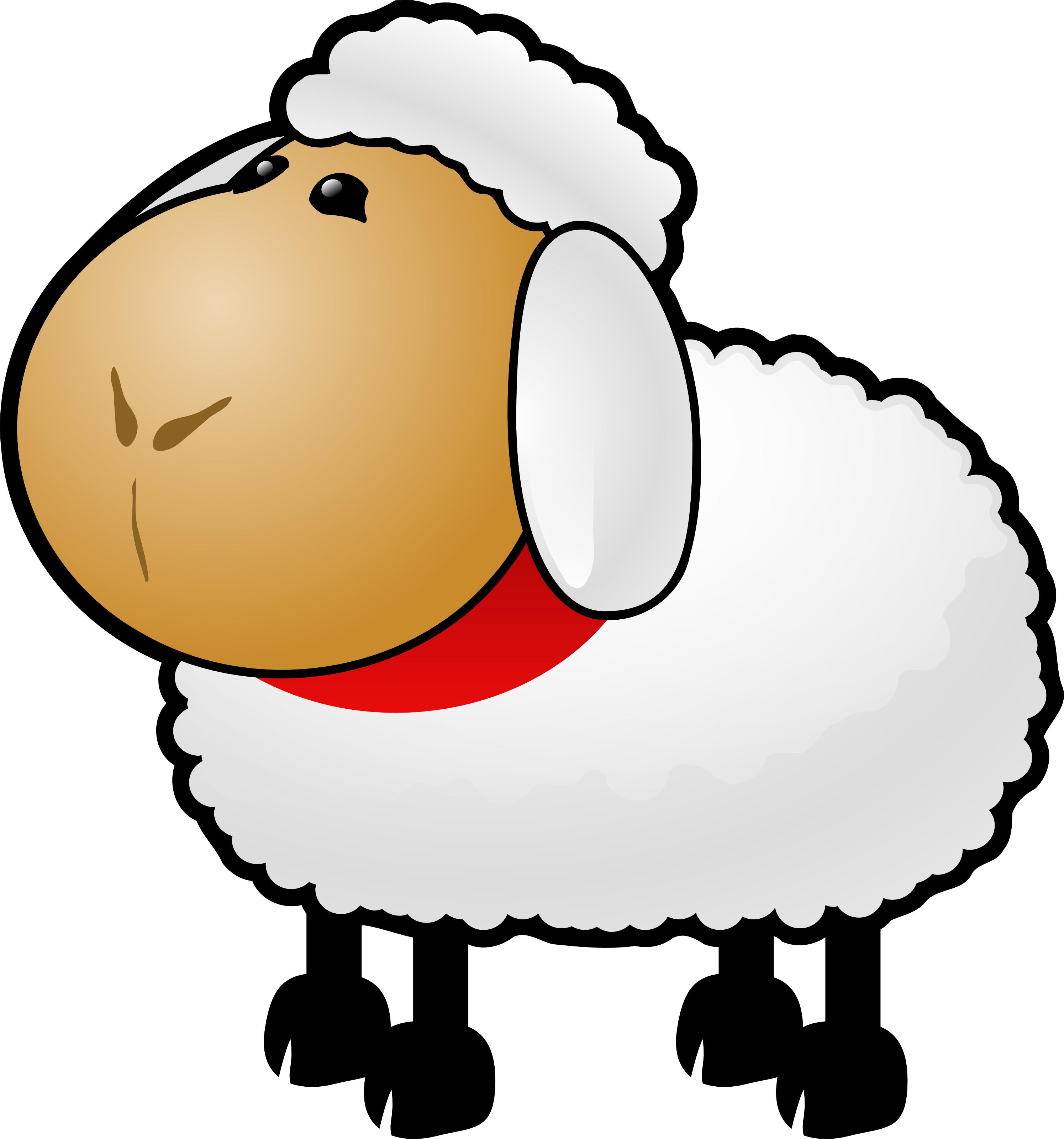 2990x3200 Cartoon Sheep Clipart Illustration