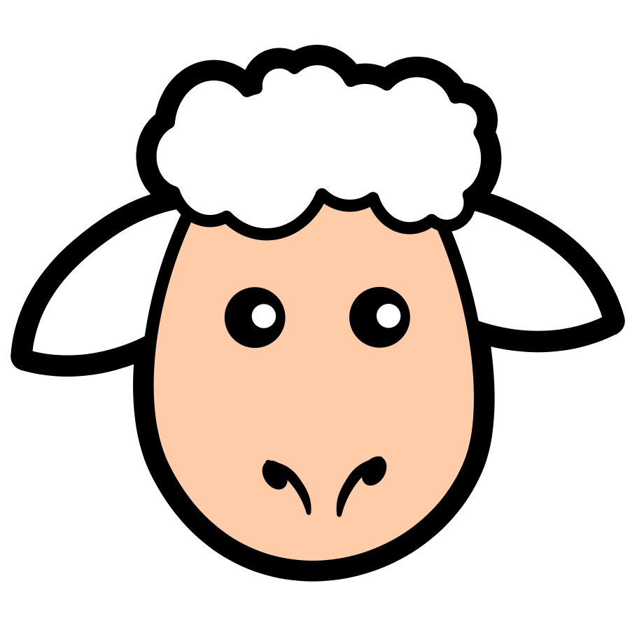 900x900 Lamb face clip art free clipart images