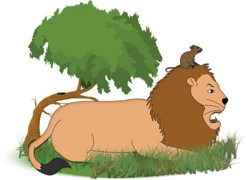 Lion And Mouse Clipart