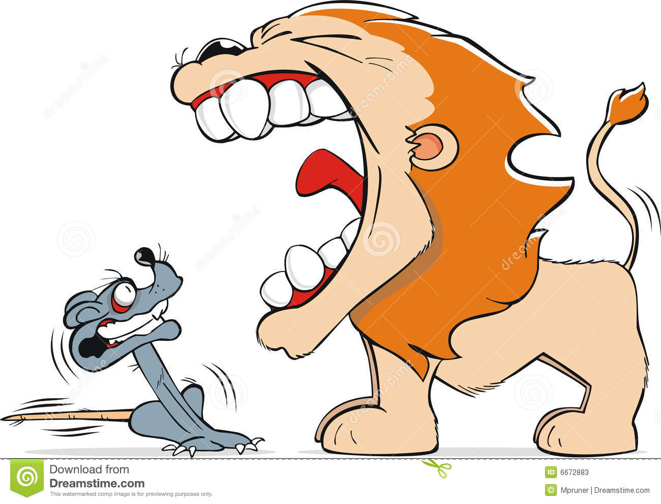1300x991 Mouse And Lion Clipart